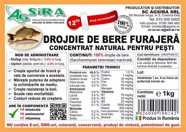 concentrat natural pentru pesti